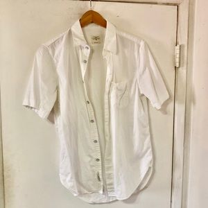 Rag & Bone White Short Sleeve Standard Issue Shirt